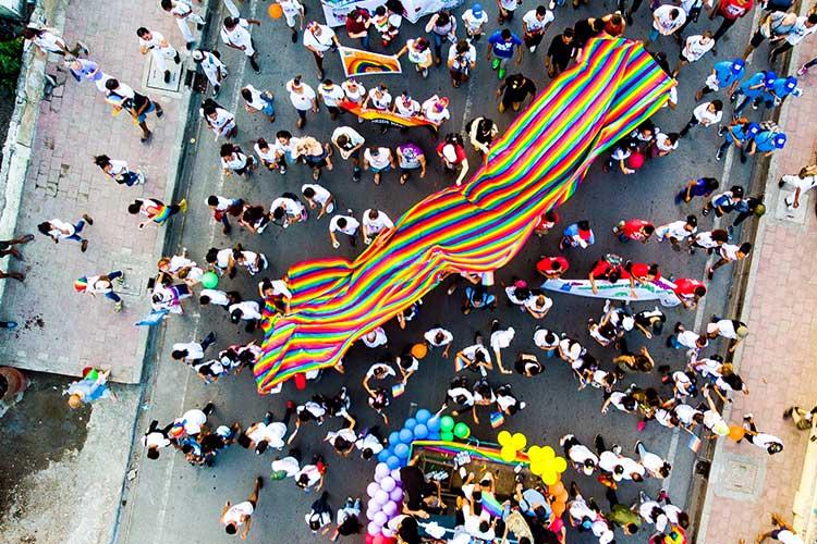 LGBTQI pride parade LGBTQI flag