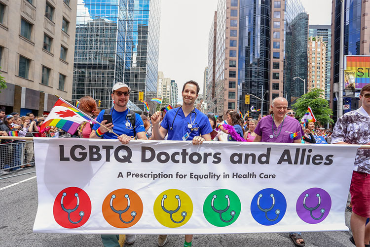 Doctors and allies march in pride parade for LGBTQI rights