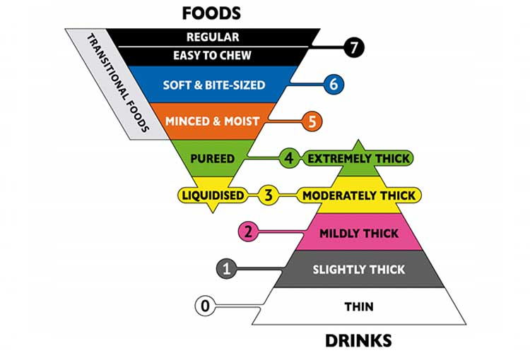 Food pyramid relating to dysphagia | Image