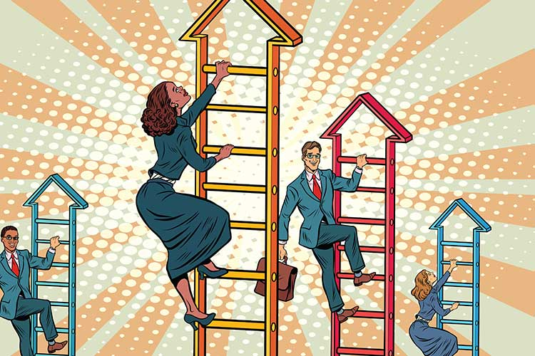 People climbing ladder vector | Image