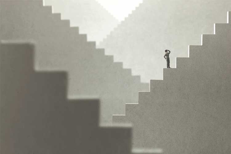Climbing stairs concept | Image