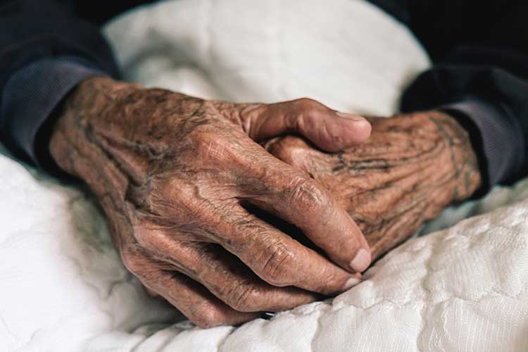 Image of elderly persons hands