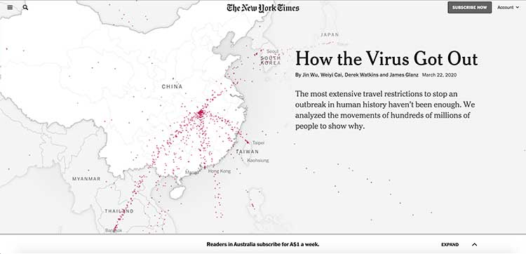 New York Times - How covid-19 got out | Image