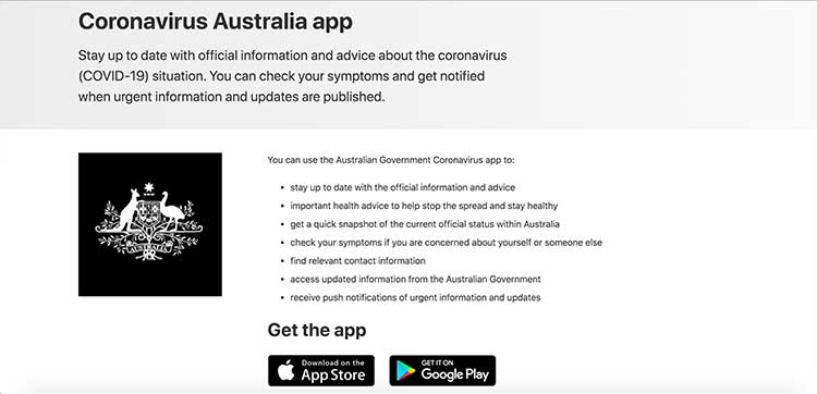 Coronavirus Australia app | Image