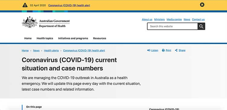 COVID-19 - Current Situation and Case Numbers | Image