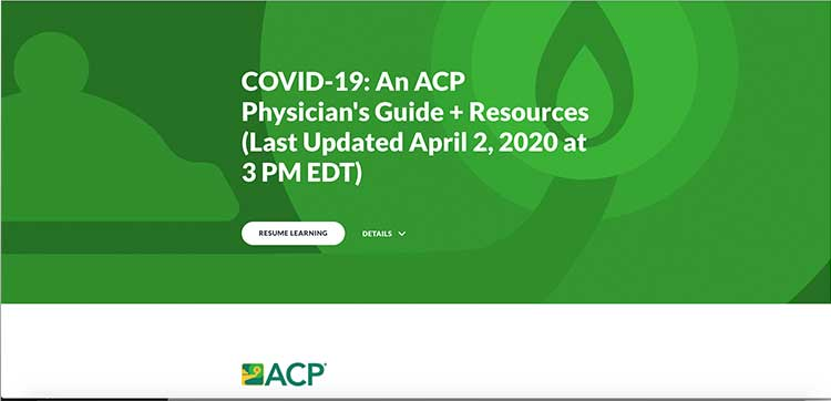 ACP physician's guide and resources - COVID-19 | Image