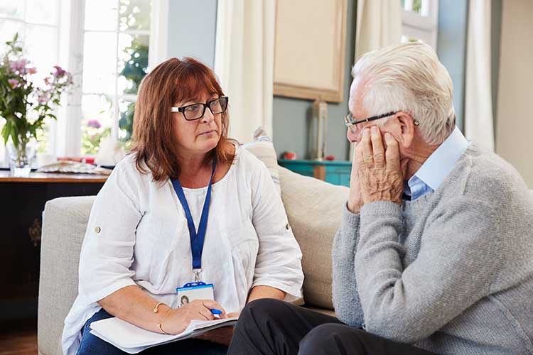 carer and client making plans