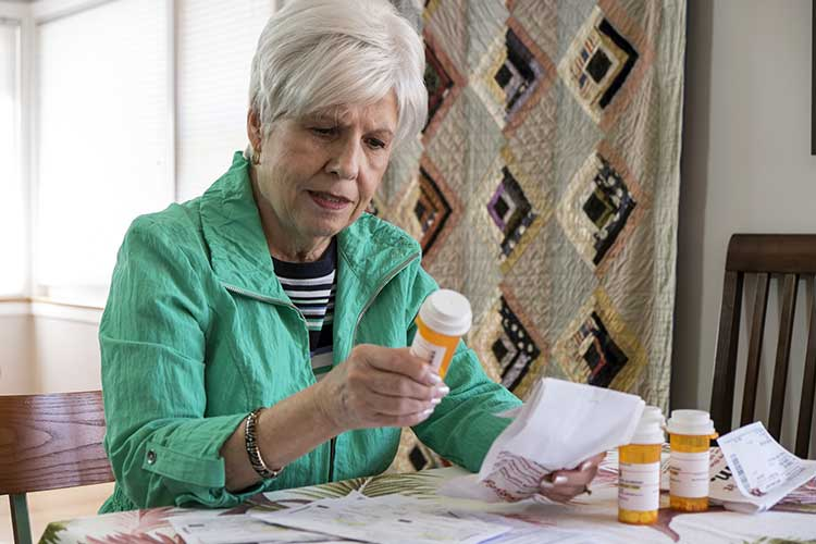woman having difficulty understanding medication