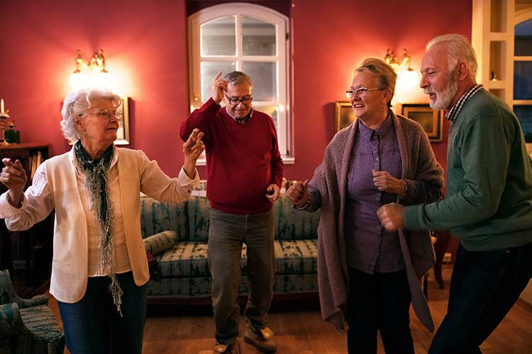 older adults dancing