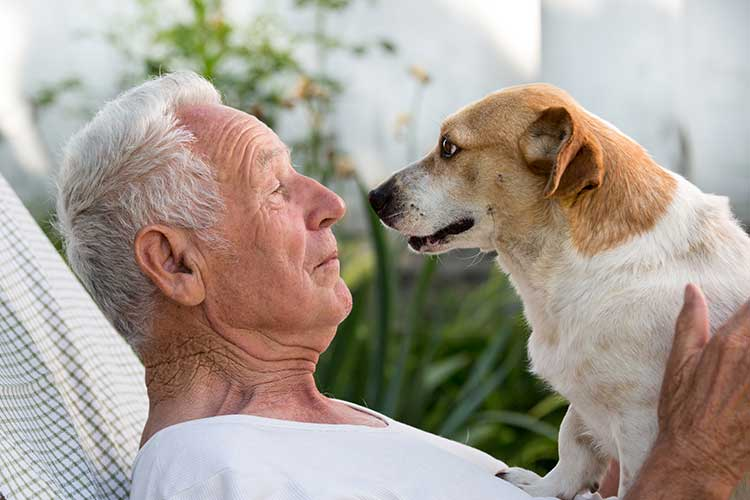 aged care client with dog