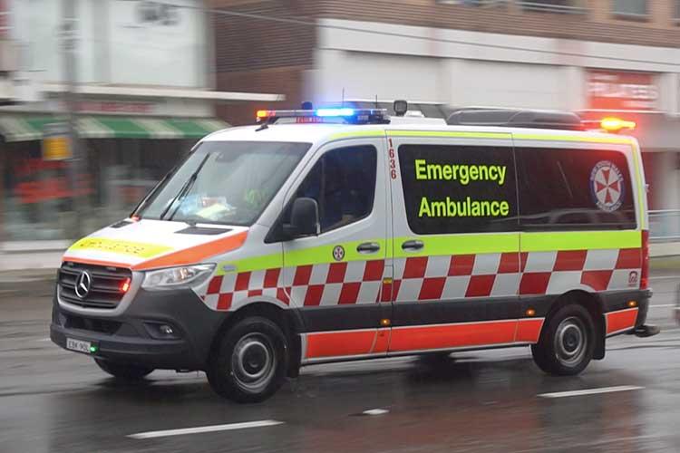 ambulance transporting trauma patient