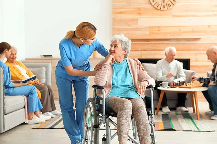Aged Care Voluntary Industry Code of Practice worker with client