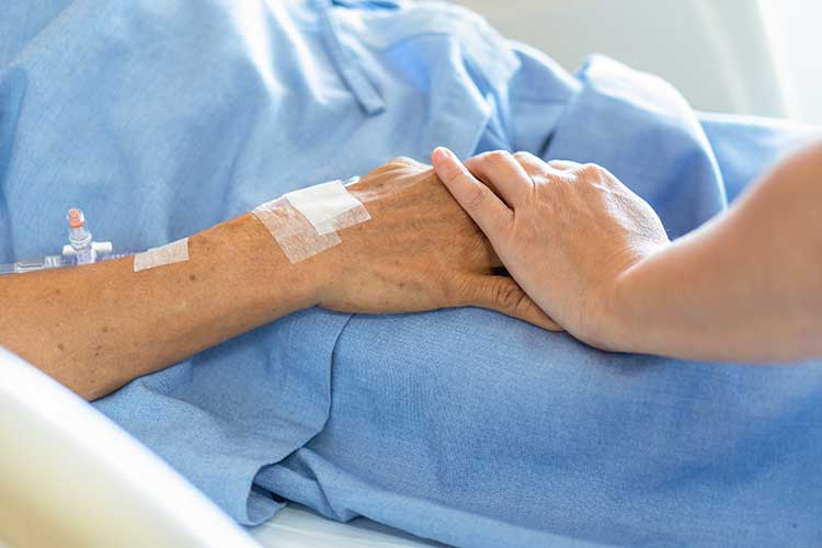 dying process during palliative care comforting patient