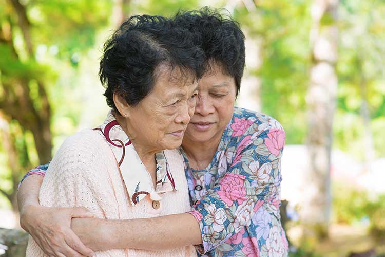 transitioning aged care loss grief family carer