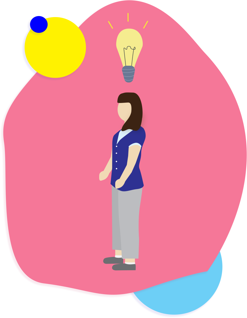 illustration of a nurse and lightbulb idea
