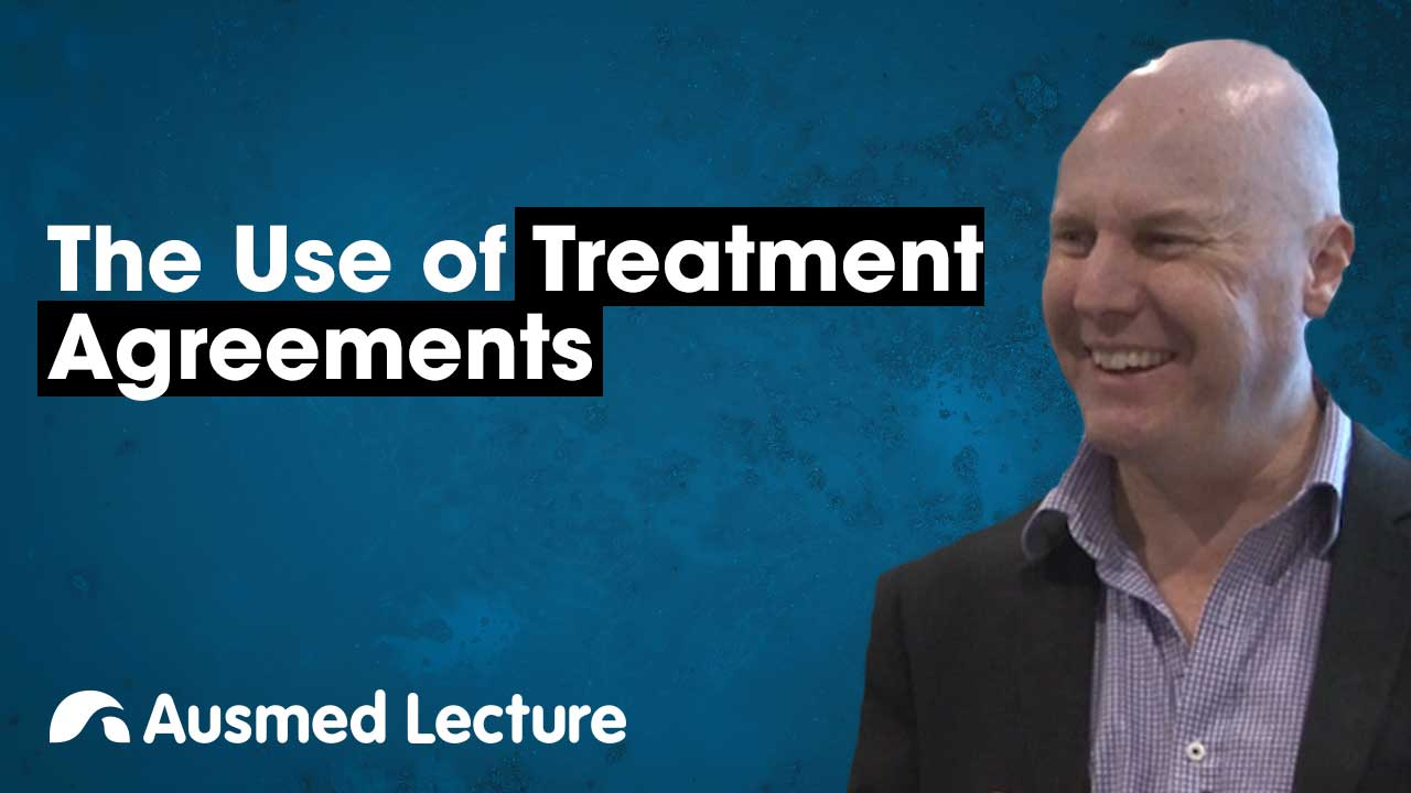 Cover image for lecture: The Use of Treatment Agreements