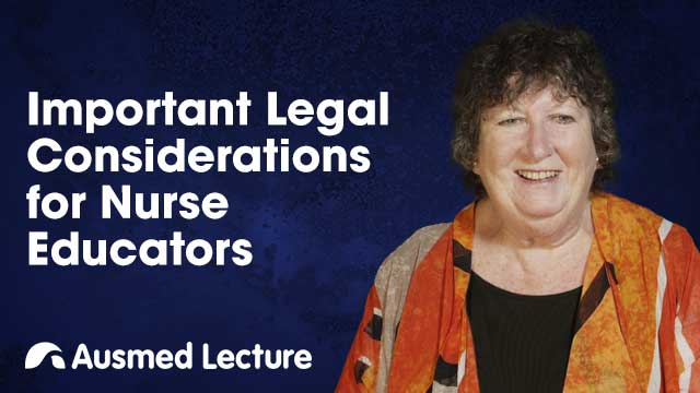 Cover image for lecture: Important Legal Considerations for Nurse Educators