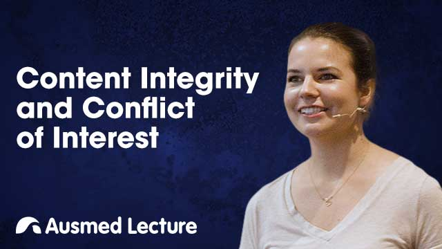 Cover image for lecture: Content Integrity and Conflict of Interest