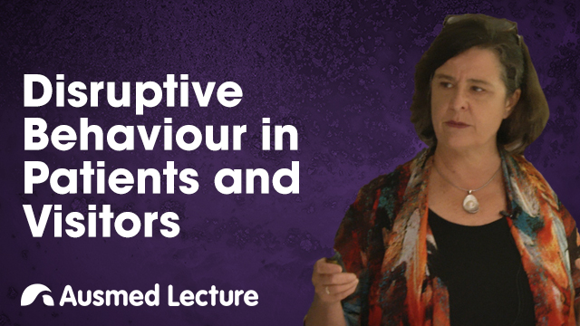 Cover image for lecture: Disruptive Behaviour in Patients and Visitors