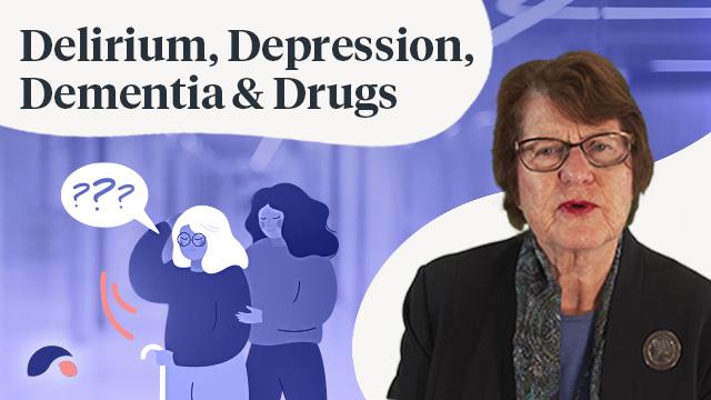 Cover image for lecture: Delirium, Depression, Dementia and Drugs